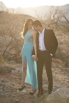 Photography: Mike Colón Photographers Newport Coast, CA; Location:  Red Rocks Canyon Las Vegas, NV; Production and Styling: Kat Harris, Mike Colón Photographers; Hair and Makeup: Lindsey Shea; Gown: Sarah Shreves; Men's Fashion: Zaraas seen in the Grace Ormonde Wedding Style 2012: Fall/Winter Issue