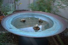 Spun Copper Dish by Mallee Design Australian Garden Design, Copper Dishes, Native Australians, Bird Baths, Landscaping With Rocks, Native Plants, Conservation, Habitats, Landscape Design