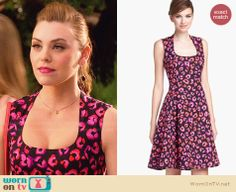 258fbcec95 AnnaBeth s black and pink leopard spot print dress on Hart of Dixie