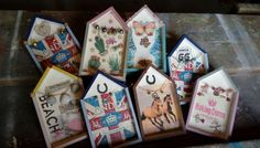 Creatieve huisjes#kinderfeestje#anniesloan#chalkpaint