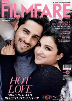 Sidharth-Parineeti Cuddle Up On Filmfare's Latest Cover