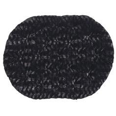 Papasan Double Cushion - Fuzzy Black