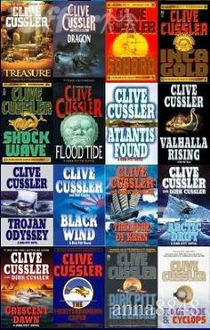 The Dirk Pitt series by Clive Cussler is a great ocean-adventure series.  Based off true historic events, Cussler puts a fantasy-adventure spin to it.  Love these books!