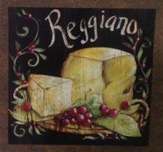 Queijo Reggiano - São produzidas em Mdf Betumizado,cortados levemente irregulares com imagem envelhecida. Acompanha a fita Fixa Forte.  https://www.coisasdelolla.com