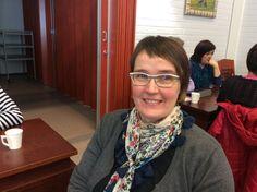Virpi Takaneva tekee töitä sekä siistijänä että jakelukeittiössä Sulkavan yhtenäiskoulussa.