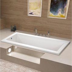 Kingston Brass Aqua Eden x Drop in Soaking Bathtub Drain Location: Left Drop In Bathtub, Bathtub Drain, Soaking Bathtubs, Jacuzzi Tub, Whirlpool Bathtub, Bathtub Alcove, Modern Bathroom, Small Bathroom, Master Bathroom