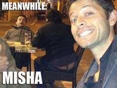 There is a shape-shifter in the background! Laser eyes! Run, Misha!!!<------ Oh my God run run run!!!