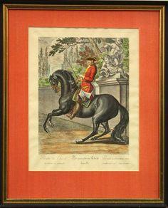 2236: Print, after Johann Ridinger, Parade du Cheval : Lot 2236