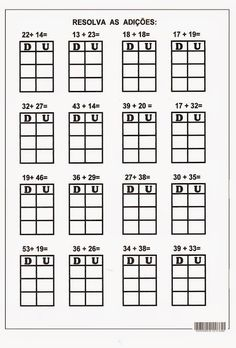 2 Digit Addition without Regrouping Worksheets 2nd Grade Math, First Grade, Second Grade, Singapore Math, School Worksheets, Place Values, Math For Kids, Addition And Subtraction, Kindergarten Math