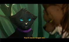 Tigerstar saying you'll never forget me to the poor little kittypet (who later becomes Scourge) after fightning him! And then later...scourge KILLS HIM!!!!