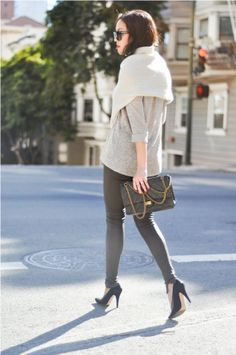 so cute, love the leather leggings.