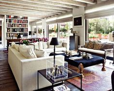 white rustic eclectic classic vintage modern living room