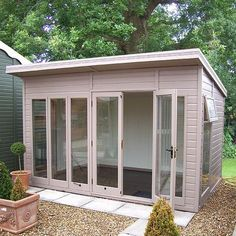 Incredible Studio Shed Designs Ideas For Your Backyard – Decorating Ideas - Home Decor Ideas and Tips Backyard Office, Backyard Studio, Backyard Sheds, Garden Studio, Garden Office, Backyard Pergola, Backyard Landscaping, Outdoor Storage Sheds, Outdoor Sheds