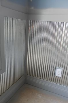 Love The Galvanized Corrugated Steel Siding On The Walls