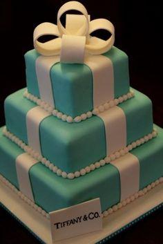 Pasteles de Bodas elegantes de color Tiffany Azul 11