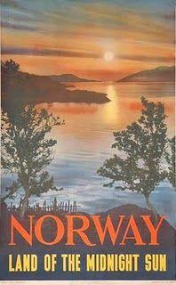 antique Norway travel poster