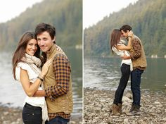 fall engagement photo ideas, outfit idea?