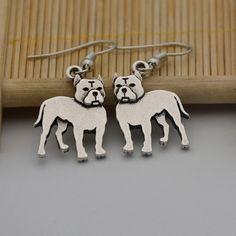 Ohrhänger - Hunde Ohrhänger Boxer Ohrringe - ein Designerstück von zwergschmuck…