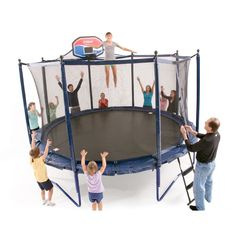 14' Elite PowerBounce Trampoline with Safety Enclosure by JumpSport