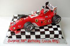Discover recipes, home ideas, style inspiration and other ideas to try. Ferrari F40, Ferrari Cake, Ferrari Logo, Racing Cake, Race Car Cakes, Truck Cakes, 38th Birthday, Race Car Birthday, Fondant Cakes