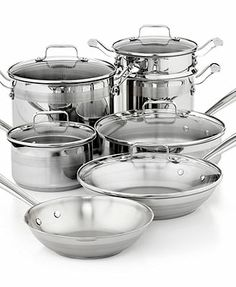 Emeril by All-Clad Chef's Stainless Steel 12 Piece Cookware Set
