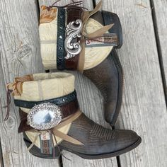 Decorated Cowboy Boots ALL SIZES Boho GYPSY Custom Made | Etsy Boho Gypsy, Decor Crafts, Custom Made, Cowboy Boots, Decorative Crafts, Western Boot, Bohemian Gypsy, Decoration Crafts, Western Boots