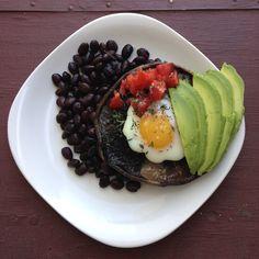 Fiberlicious Baked Portabella Breakfast