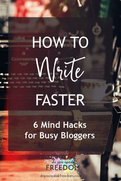 You can write faster than you think. Your brain knows what to do. You just need to work with your brain, not against it. Find out how >>