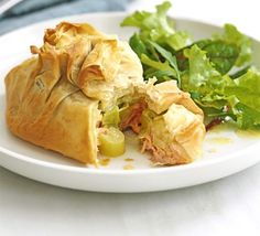 Much easier than it looks, once you have mastered this salmon in filo recipe it will be a dinner party favourite