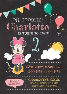 Gather guests with amazing Disney birthday invitations from Zazzle! Birthday party invitations in a range of themes! Minnie Mouse Theme Party, Minnie Mouse Birthday Invitations, Minnie Mouse 1st Birthday, Photo Birthday Invitations, Disney Birthday, Minnie Mouse Balloons, Funny Birthday, 2nd Birthday Party For Girl, Birthday Party Themes