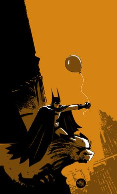 -Waaaa, I lost my balloon! -Don't worry little boy Batman's on the case.