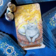 "Major Arcana XX from the Mystical Cats Tarot - ""Good Kitty""  / Photo © www.VioletAura.com"