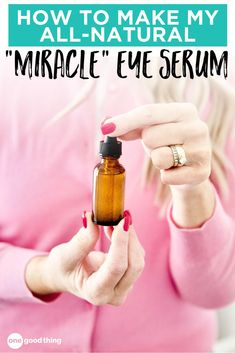 A good eye serum doesn't have to cost a fortune! This all natural, DIY option needs just two ingredients and is quite effective! Check out this easy DIY essential oil beauty recipe for yourself! Best Eye Serum, Facial Care, Herbal Oil, Essential Oil Uses, Homemade Beauty Products, Beauty Recipe, Health And Beauty Tips, Fun To Be One