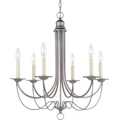 Sea Gull Lighting Plymouth 6-light Weathered Pewter Single-tier Chandelier   Overstock.com Shopping - The Best Deals on Chandeliers & Pendants