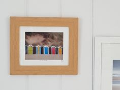 """""""Think Small, grow beautiful' Steiner. Today's addition to my #etsy shop: Saunton Abode - 13x11"""" Framed Image of Colourful Beach Huts in North Devon. Perfect cheery home decor gift ready for hanging. https://etsy.me/2xJIQkt #housewares #homedecor #blue #photography"""
