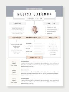 Professional Resume Templates / CV Templates / Resume by ResumeAngels Resume Design Template, Creative Resume Templates, Cv Template, Creative Cv, Cv Design, Clean Design, Cv Original Design, Cv Resume Sample, Communications Jobs
