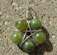 Star wire wrapped garnets $15.50