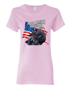 Proud American Horse Lover Women's short sleeve t-shirt