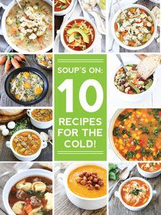 10 des meilleures recettes soupe à l'automne sur twopeasandtheirpod.com Vous allez vouloir faire TOUS ces recettes de soupe facile!