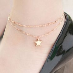 SHARE & Get it FREE | Elegant Double Layers Pentagram Pendant Anklet For WomenFor Fashion Lovers only:80,000+ Items·FREE SHIPPING Join Dresslily: Get YOUR $50 NOW!