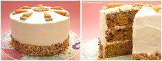 Layer cake de zanahoria con frosting de queso