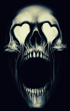 Heart Eye Skull Illustration | JYCTY