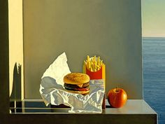 david-ligare-still-life-with-burgers-fries-and-apple