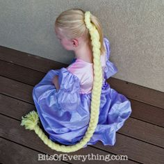 My daughter loves Tangled! This DIY repunzel hair tutorial seems simple enough.