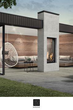 Home Room Design, Dream Home Design, House Design, Outdoor Patio Designs, Outdoor Pergola, Small Backyard Decks, Gazebos, Back Garden Design, Backyard Fireplace
