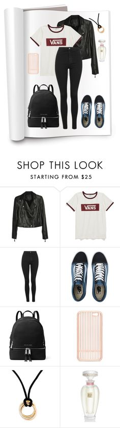 """""""Leather Jacket (633250)"""" by christiablack ❤ liked on Polyvore featuring Paige Denim, Vans, Topshop, MICHAEL Michael Kors, Squair, Cartier and Lalique"""