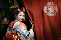 """Kyoto's Flower - Maiko in Gion district, the most exclusive and well-known geisha districts in all of Japan.  The geisha in the Gion district (and Kyoto generally) do not refer to themselves as geisha; instead, Gion geisha use the local term geiko. While the term geisha means """"artist"""" or """"person of the arts"""", the more direct term geiko means essentially """"a child of the arts"""" or """"a woman of art"""".   Gion district, Kyoto, Japan."""