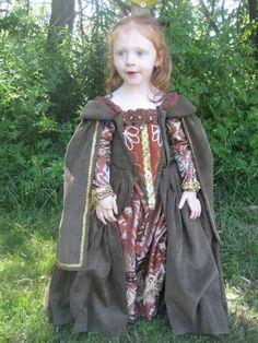 Renaissance Gown Custom Princess Heirloom Girls Dress., via Etsy.