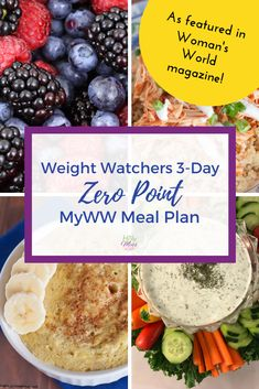 Use this Weight Watchers 3 Day Zero Point Meal Plan for when you want to jump start your weight loss by eating only zero point foods.