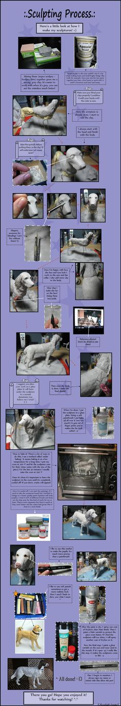 :. Sculpting Process .: by XPantherArtX How to sculpt a dog out of clay tutorial